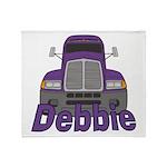 Trucker Debbie Throw Blanket