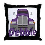 Trucker Debbie Throw Pillow