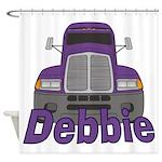 Trucker Debbie Shower Curtain
