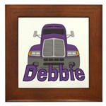 Trucker Debbie Framed Tile