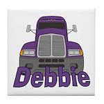 Trucker Debbie Tile Coaster