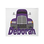 Trucker Deborah Throw Blanket
