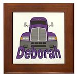 Trucker Deborah Framed Tile