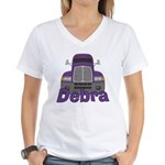 Trucker Debra Women's V-Neck T-Shirt