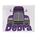 Trucker Debra Throw Blanket