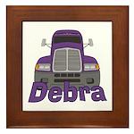 Trucker Debra Framed Tile