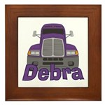 Trucker Debra Framed Tile