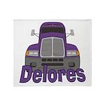 Trucker Delores Throw Blanket