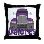 Trucker Delores Throw Pillow