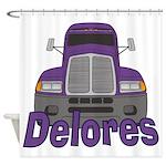 Trucker Delores Shower Curtain