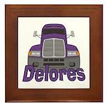 Trucker Delores Framed Tile