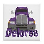Trucker Delores Tile Coaster