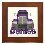 Trucker Denise Framed Tile