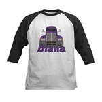 Trucker Diana Kids Baseball Jersey