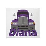 Trucker Diana Throw Blanket