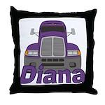 Trucker Diana Throw Pillow