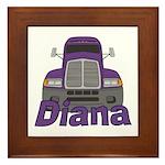 Trucker Diana Framed Tile