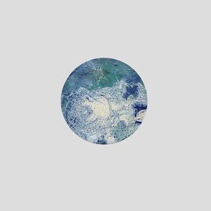 Blue Granite Abstract Mini Button