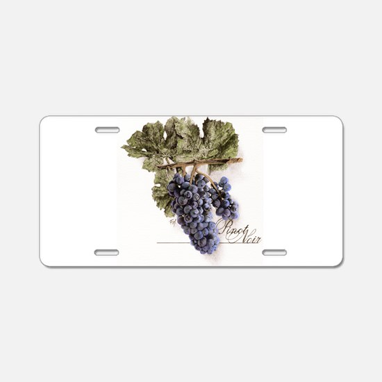 flowers,wine grapes Aluminum License Plate