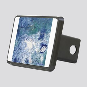 Blue Granite Abstract Hitch Cover