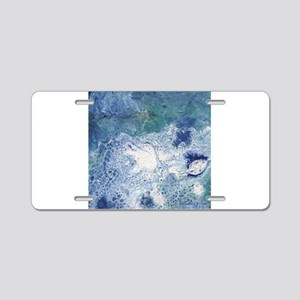 Blue Granite Abstract Aluminum License Plate