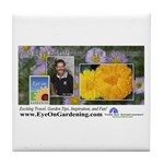 Eye on Gardening Host Logo Tile Coaster