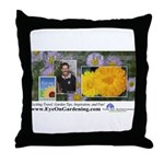 Eye on Gardening Host Logo Throw Pillow