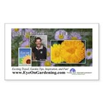 Eye on Gardening Host Logo Rectangle Sticker