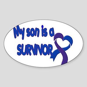 son pediatric stroke Sticker (Oval)