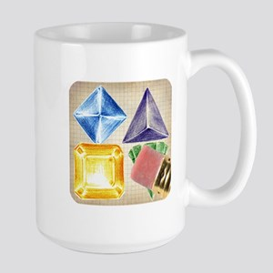Doodle Jewels Icon Large Mug