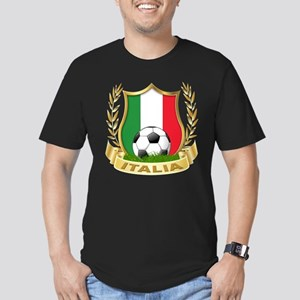 Italian World Cup Soccer Men's Fitted T-Shirt (dar