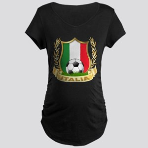 Italian World Cup Soccer Maternity Dark T-Shirt