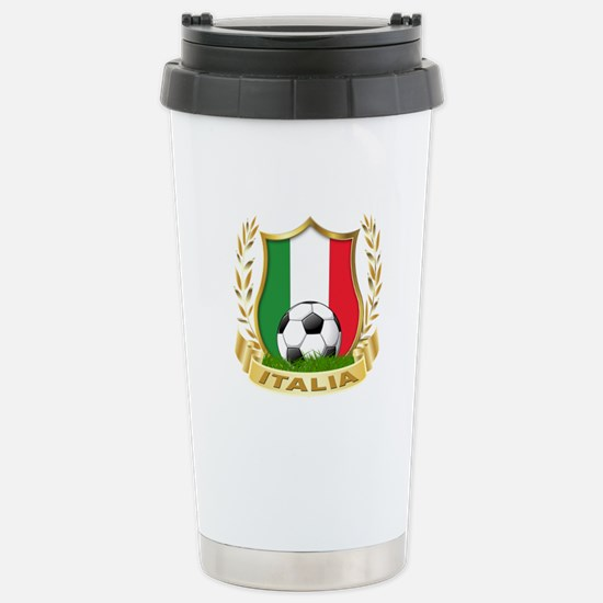 Italian World Cup Soccer Stainless Steel Travel Mu