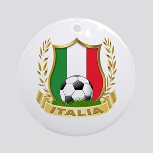 Italian World Cup Soccer Ornament (Round)