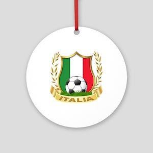 Italian World Cup Soccer Ornament (Round)