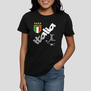 Italian World Cup Soccer Women's Dark T-Shirt