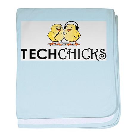 Logo no laptop baby blanket
