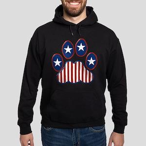 Patriotic Paw Print Hoodie (dark)