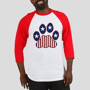 Patriotic Paw Print Baseball Jersey