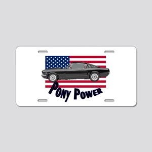Pony Power Aluminum License Plate