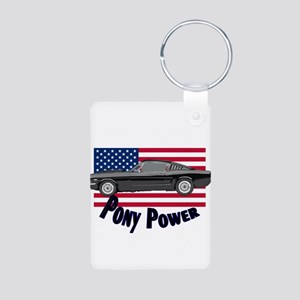 Pony Power Aluminum Photo Keychain