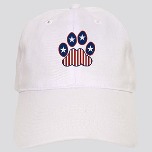 Patriotic Paw Print Cap