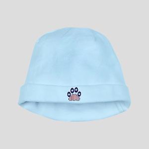 Patriotic Paw Print baby hat
