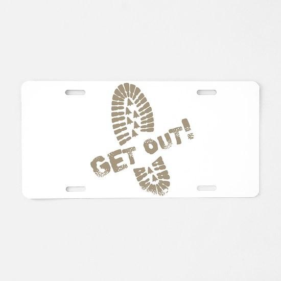 GetOut.png Aluminum License Plate