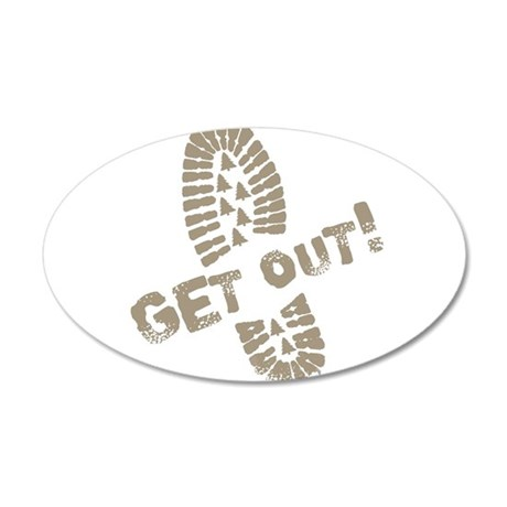 GetOut.png 20x12 Oval Wall Decal