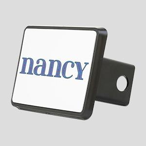 Nancy Blue Glass Rectangular Hitch Cover