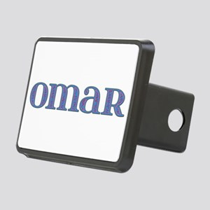 Omar Blue Glass Rectangular Hitch Cover