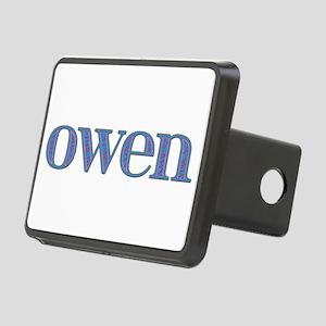 Owen Blue Glass Rectangular Hitch Cover