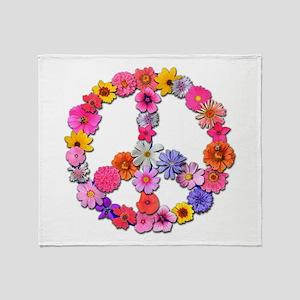 FloralPeace Throw Blanket