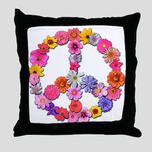 FloralPeace Throw Pillow